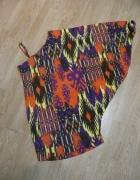 NOWA wyjątkowa bluzka asymetryczna neon wzory 100proc bawełna...