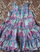 Letnia sukienka w kwiatki...
