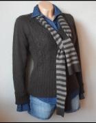 Sweter brązowy Vero Moda L szalik gratis...