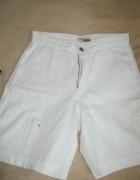 białe krótkie letnie S