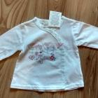 Nowe jeansy niemowlęce dziewczęce i biała bluzeczk