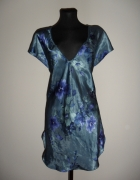 letnia sukienka tunika satynowa floral