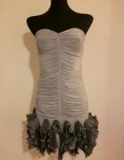 marszczona sukienka z kryzą goddes...