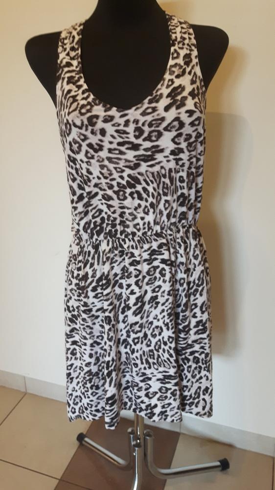 Suknie i sukienki letnia sukienka panterka hm