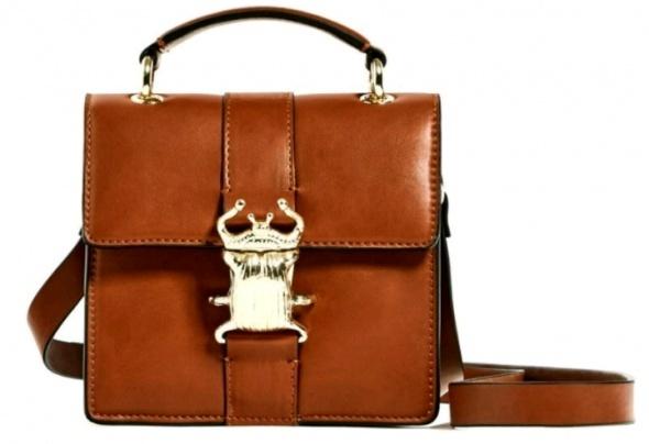 Torebka kuferek z chrabąszczem Zara...