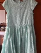 Sukienka miętowa TU 152