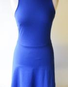 Sukienka H&M Kobaltowa Elegancka Kobalt S 36 Pracy...