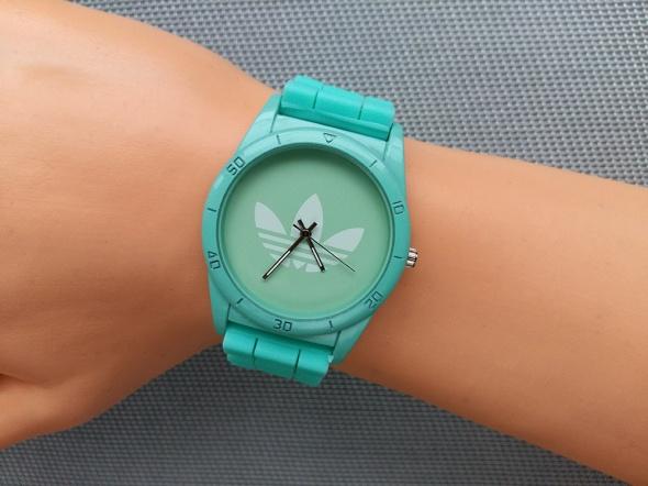 Zegarki Sportowy zegarek Adidas zielony unisex prezent