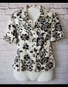 40 Elegancka bluzka kwiatowy wzór...