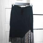 Zara spódnica asymetryczna siatka czarna midi
