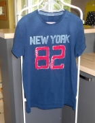 Fred Mello koszulka new york tshirt napis granat...