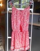 Fishbone kombinezon czerwony etno wzory hippie...