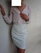 Spódniczka h&m wizytowa biała...