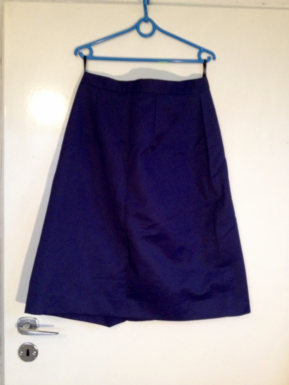 Spódnice Granatowa spódnica od kompletu duże rozmiary XL L 40 42 używana
