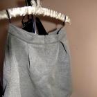 Szara spódnica rozkloszowana pianka pastelowa s 36