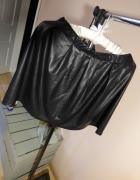Czarna skórzana spódnica mini zamek S M L 34 XS 36...