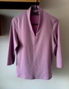 Bluzka dekolt v wrzosowa sweterek XS M S 34 36 38...