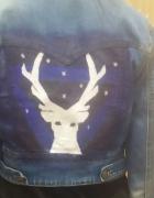 ramoneska Jeans ręcznie malowana rozm 36...