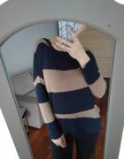 Sweter w paski 36...