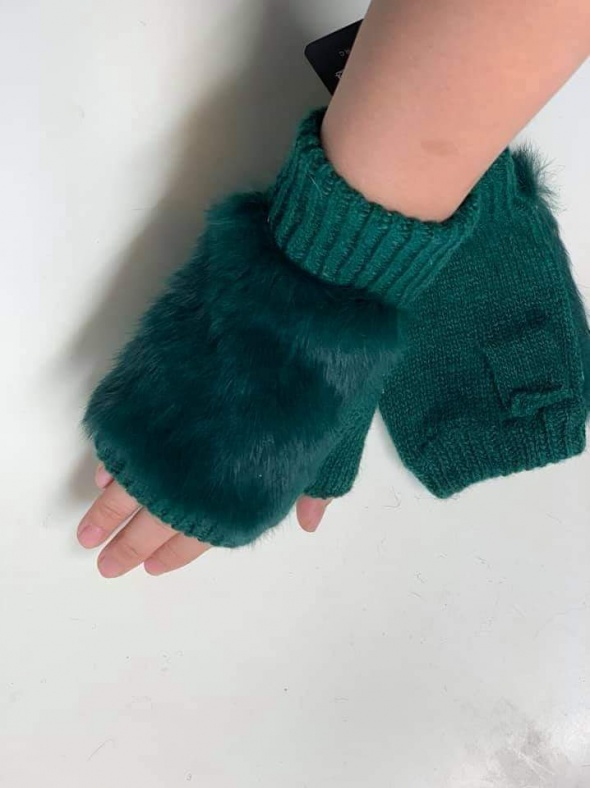 Rękawiczki z futerkiem