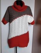 Śliczny sweter 3 kolory golf...