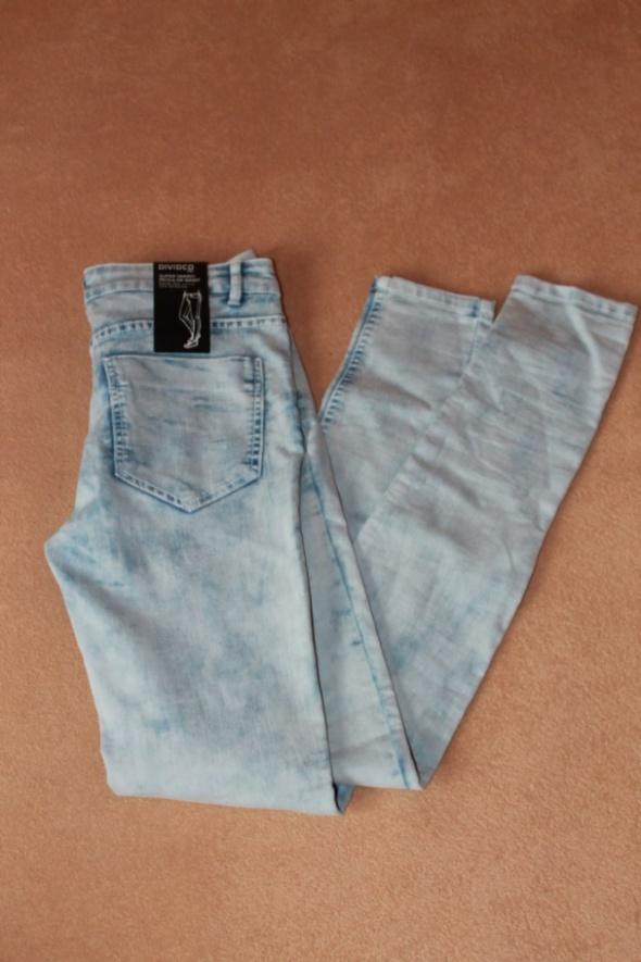 Spodnie Nowe jeansy H&M marmurkowe rurki