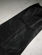 ELEGANCE czarna długa spódnica z trenem jedwab roz 36...