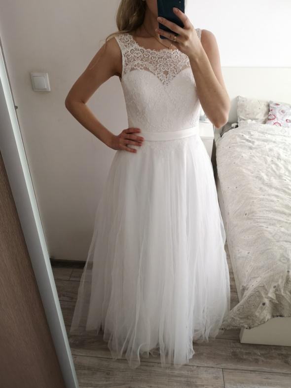Suknia ślubna 36 Camila Piekut plus welon 3 m GRATIS
