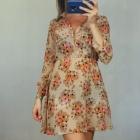 sukienka w kwiatki S
