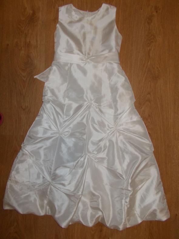 Śliczna perłowa sukienka dla dziewczynki na wesele zabawę Wysyłka