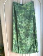 długa spódnica zielona...