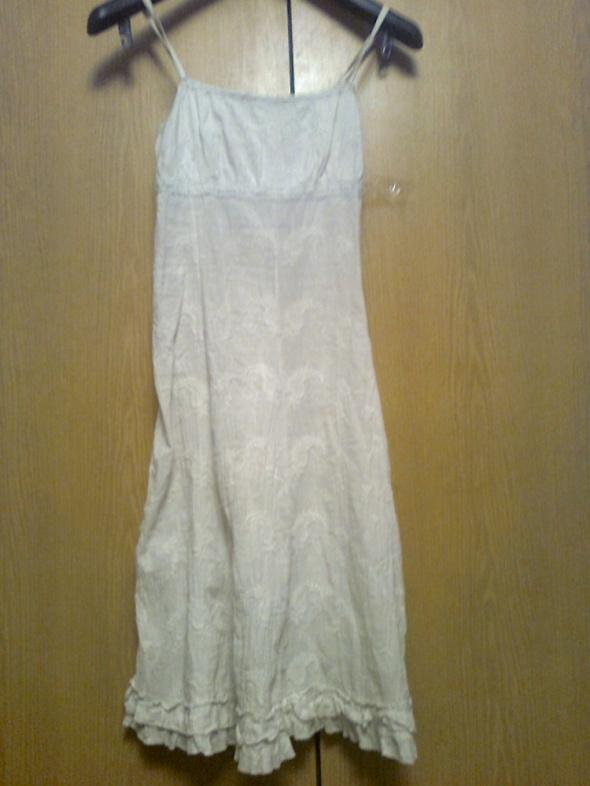 Suknie i sukienki biała sukienka letnia