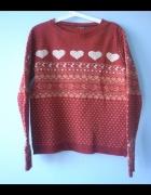 Atmosphere czerwony sweter serduszka