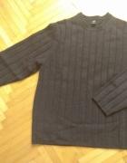 Sweter GAP męski oryginalny z USA męski szary wełna...