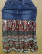 ciekawa spódnica jeans kwiaty...