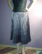 fioletowa satynowa spódnica...