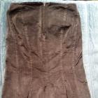 spódnica brąz asymetryczna aksamit