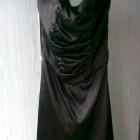 sukienka czarna atłasowa