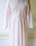 Sukienka H&M L 40 Pudrowy Róż Long Bawełna Różowa Dłuższa...