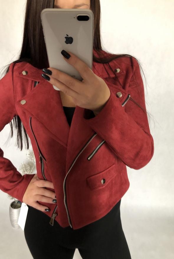 Ramoneska kurtka nowa S M czerwona
