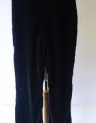 Spodnie Czarne Welurowe Welur Proste Nogawki H&M M 38...