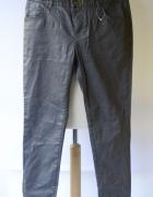 Spodnie Woskowane La Redoute L 40 Szare Rurki...