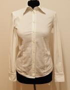 Biała elegancka taliowana koszula Zara...
