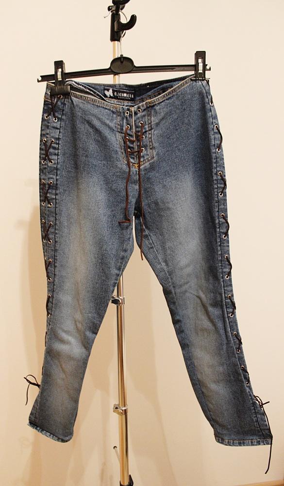 Spodnie Spodnie jeans wiązane