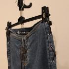 Spodnie jeans wiązane