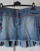 Plisowana mini jeans...