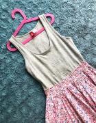 Kolorowa sukienka H&M kwiecista floral
