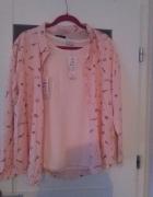 Nowa bluzka pudrowy róż cekiny...