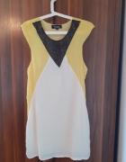 Elegancka żółta sukienka L lato...