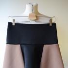 Spódniczka Zara Basic S 36 Czarna Brązowa Pianka